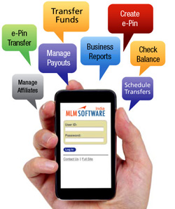 MLM Software Service on Mobile - Mobile Banking Software